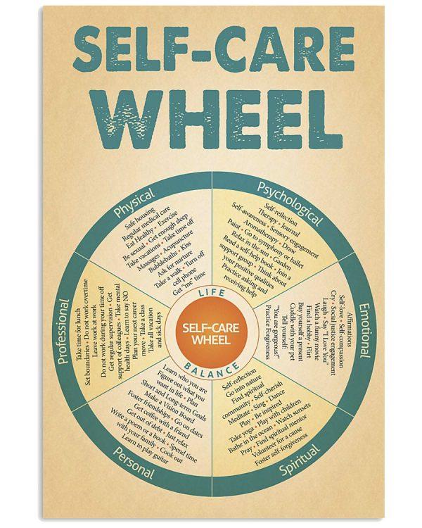 Social worker self care wheel poster