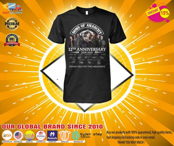 Son of Anarchy 12th anniversary 2008 2020 shirt, hoodie