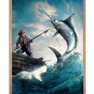 The old man and the sea Everything will kill you so choose something fun poster