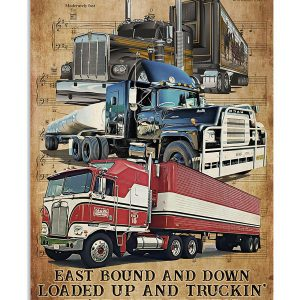Truck east bound and down poster