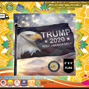 Trump  Keep America Great American Eagle Flag