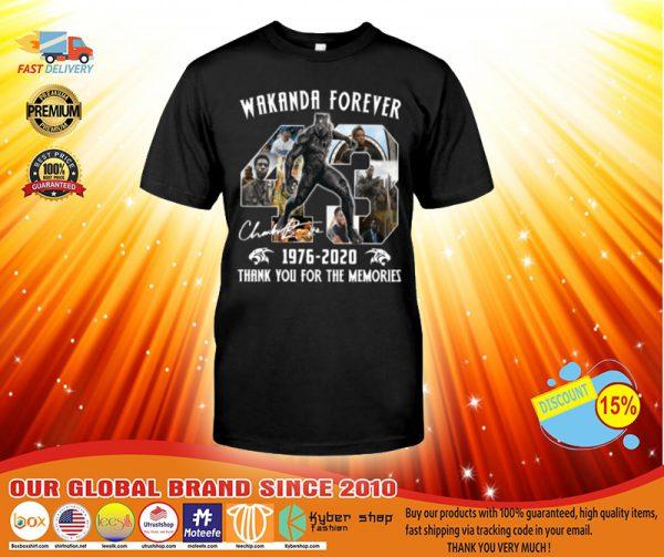 Wakanda forever 1976-2020 thank you for the memories shirt, hoodie