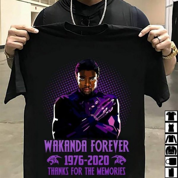Wakanda forever 1976-2020 thanks for the memories shirt, hoodie