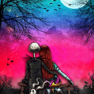 We are simply meant to be Jack Skellington & Sally poster