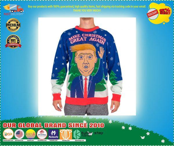 D Trump Hair Make Christmas Great Again Ugly Sweater