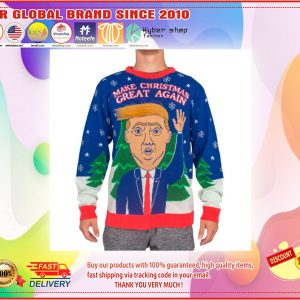D Trump Hair Make Christmas Great Again Ugly Sweater