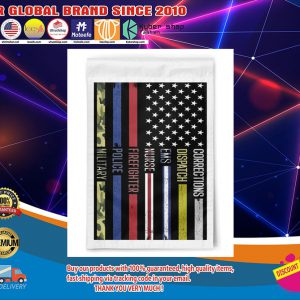 American flag Corrections dispatch ems nurse firefighter police military poster1