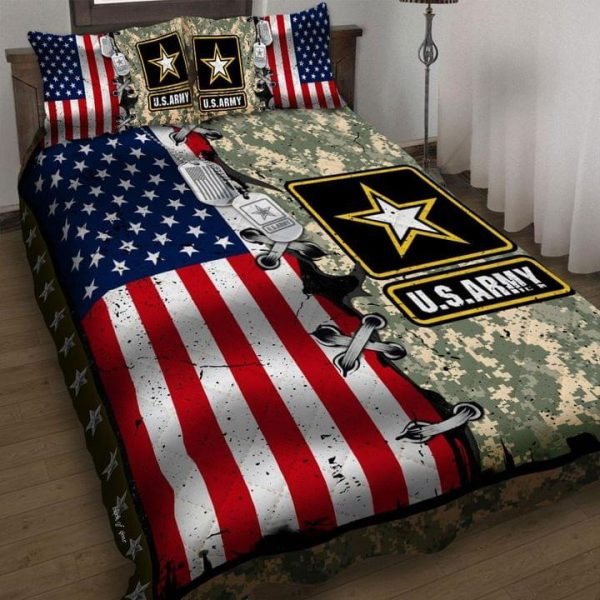 American flag US army quilt BEDDING SET