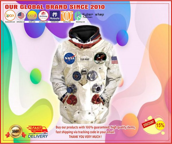 Armstrong spacesuit 3d over print hoodie