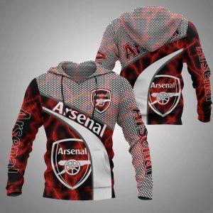 Arsenal 3d full print hoodie