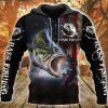 Bass fishing 3D hoodie