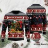 Believe in bigfoot squatching through the snow ugly sweater