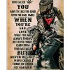 Biker while on this ride call life poster