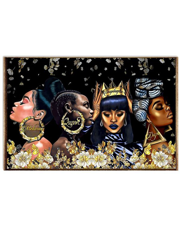 Black woman dope queen Melanin poster