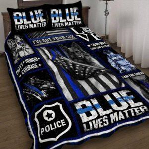 Blue lives matter police quilt