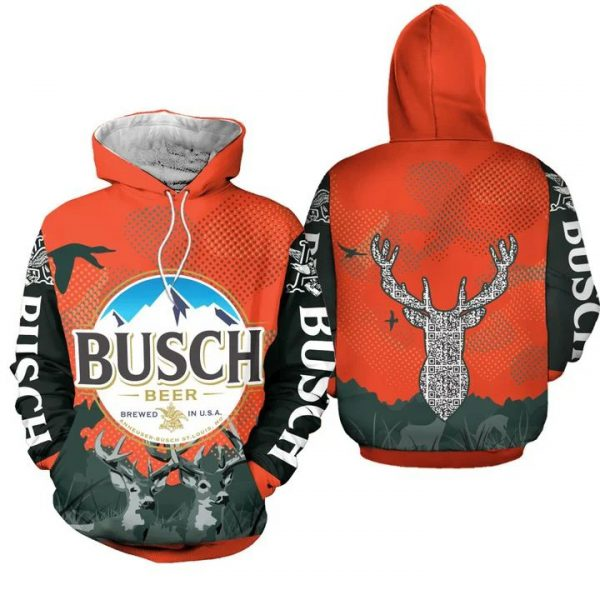 Busch beer brewed in usa 3D hoodie
