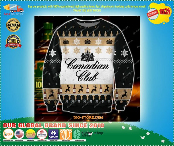 Canadian club knitting pattern d print ugly sweater