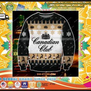 Canadianclubknittingpatterndprintuglysweatshirt