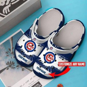 Chicago Cubs crocs shoes crocband custom personalized name