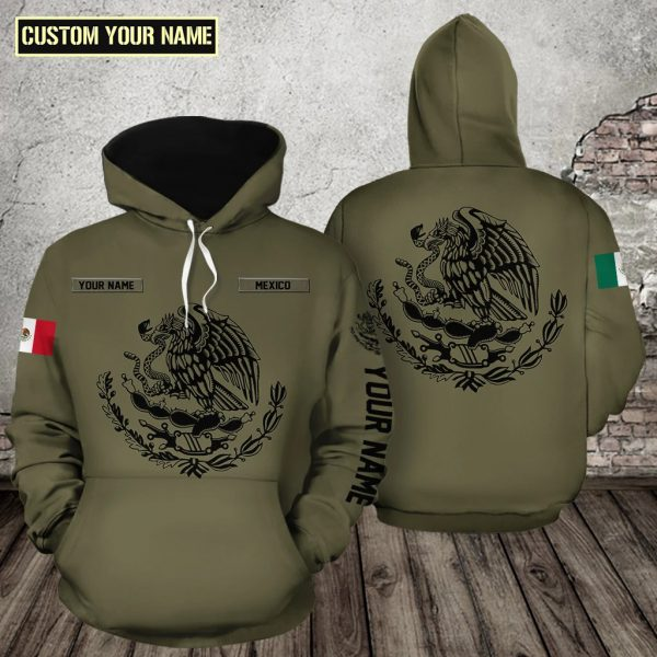 Coat of arms of Mexico Eagles eat snake 3d full print hoodie