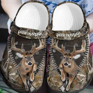 Deer hunting crocs shoes crocband