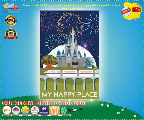 Disney Castle My happy place poster
