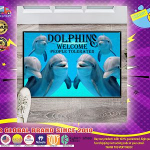 Dolphins welcome people tolerated Doormat