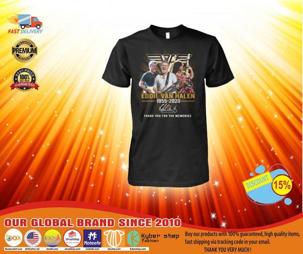 Eddie Van Halen 1955-2020 thank you for the memories shirt