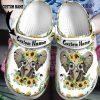 Elephant sunflower custom personalized name crocband crocs shoes