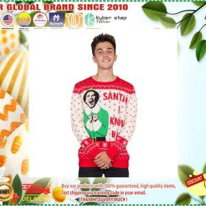 Elf Buddy Santa I Know Him Ugly Christmas Sweater