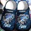 Fishing maskes me happy croc shoes crocband clog