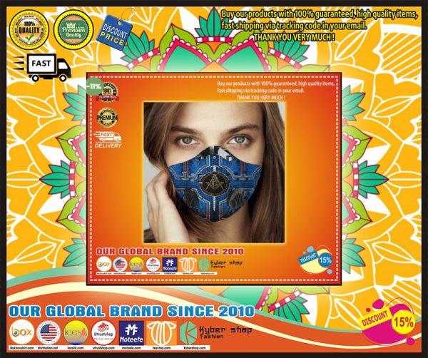 Freemason pride blue filter carbon face mask