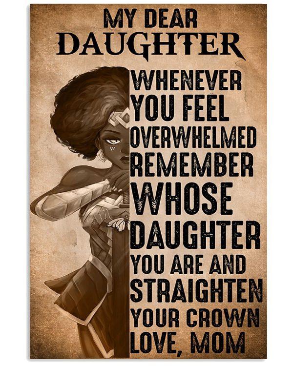 Heroine my dear daughter whenever you feel overwhelmed poster