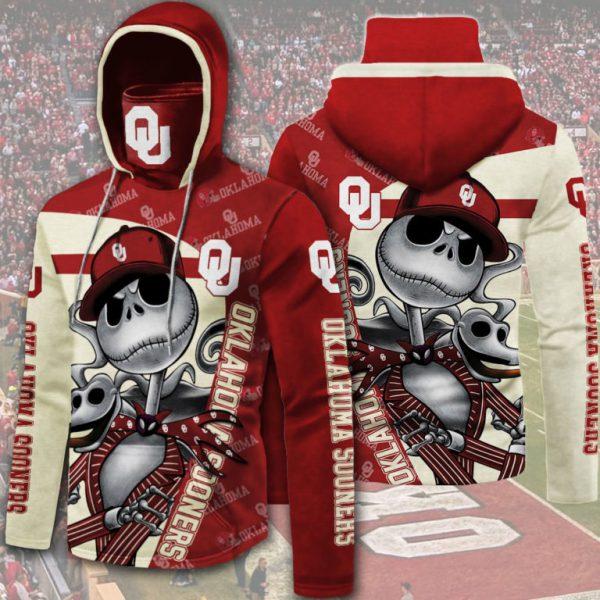 Jack Skellington Oklahoma Sooners 3D hoodie