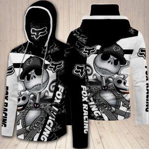 Jack Skellington fox racing 3D hoodie