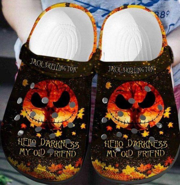 Jack skelington hello darkness my old friend crocs shoes crocband