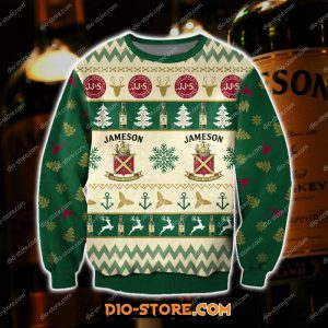 Jameson Whiskey ugly Christmas sweater