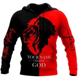 Jesus Lion the king 3d hoodie