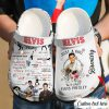 Just a girl who love Elvis Presley crocs shoes crocband