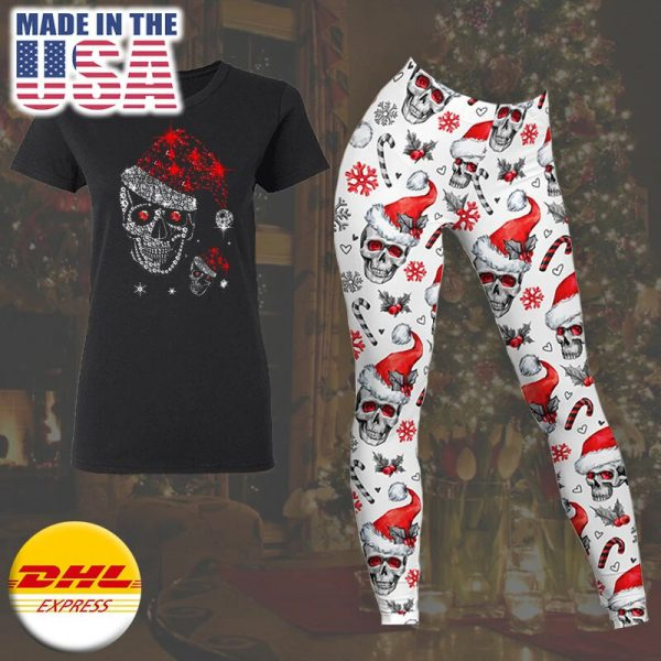 Just love skulls Xmas t-shirt and legging