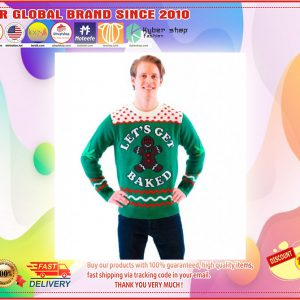 Let's Get Baked Happy Gingerbread Ugly Christmas Sweater