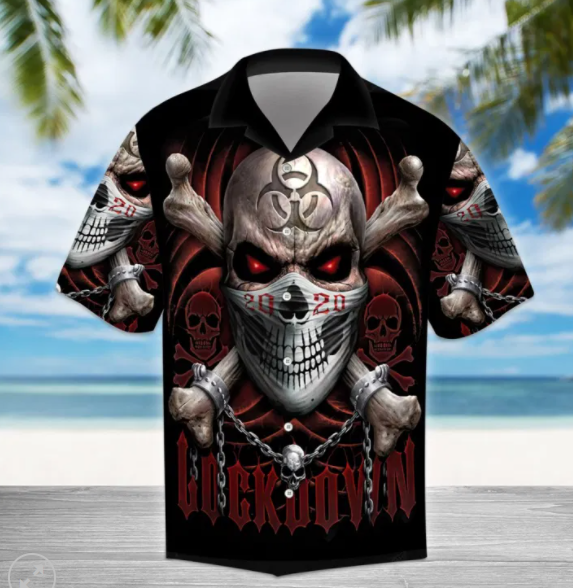 Lockdown Skull Hawaiian Shirt