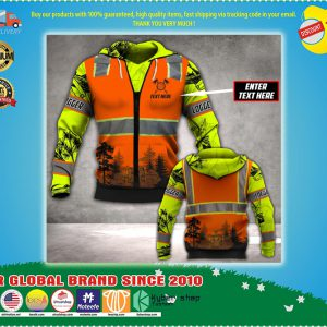 Logger safety 3d all over print hoodie