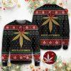 Merry christmas weed mistlestoned ugly sweater