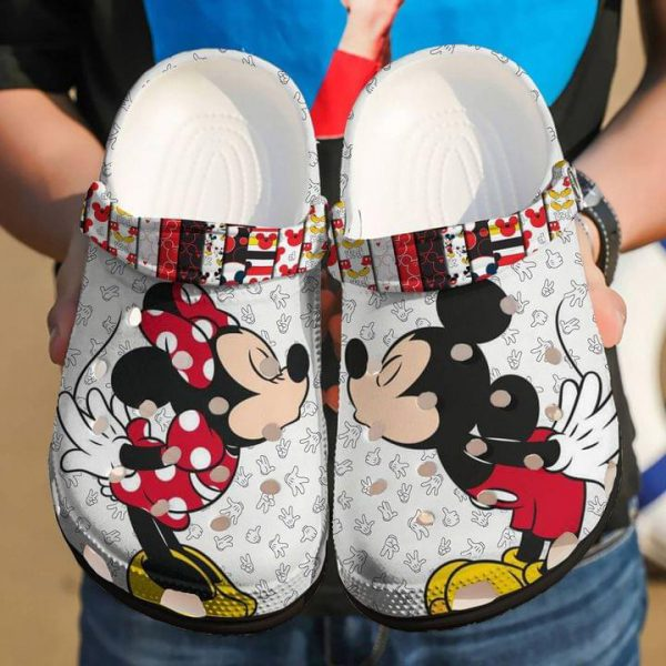 Mickey and Minnie mouse croc shoes crocband clog