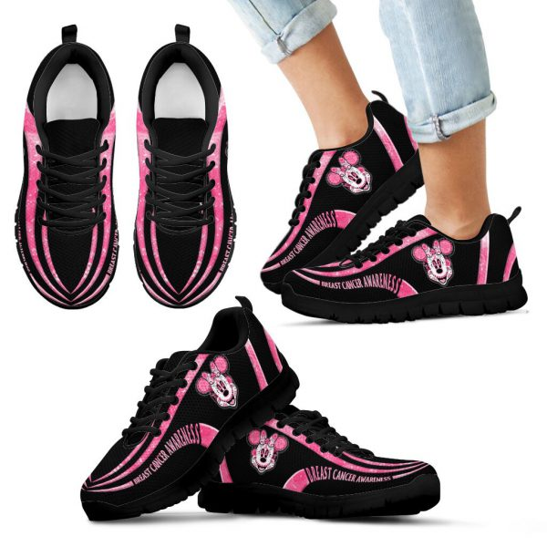 Minnie Mouse Breast cancer awareness Sneaker