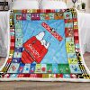 Monopoly snoopy blanket