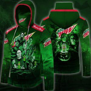 Mountain Dew horror movie 3D hoodie
