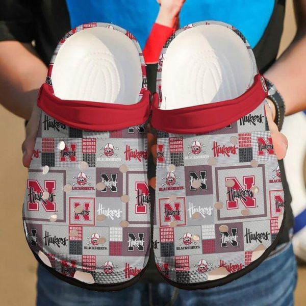 Nebraska Cornhuskers Huskers foolball crocs shoes crocband