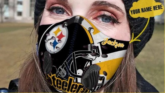 Personalized pittsburgh steelers football filter carbon face mask